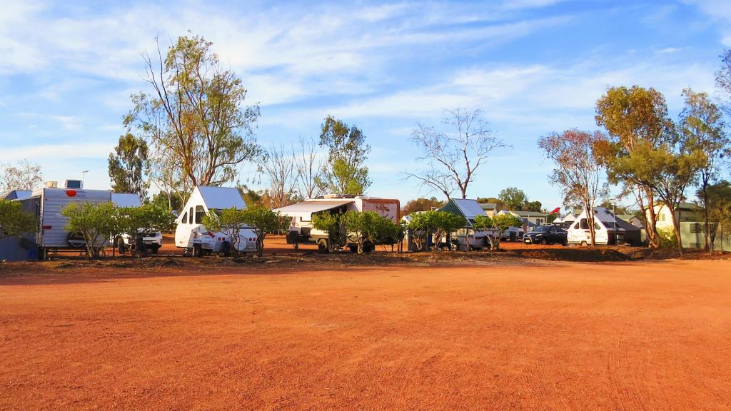 Longreach Tourist Park caravan sites